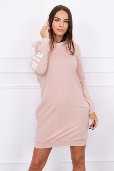 Suknelė su užrašu (Šviesiai) (Smėlio spalva)