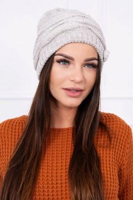Kepurė K105 (Tamsi) (Smėlio spalva)
