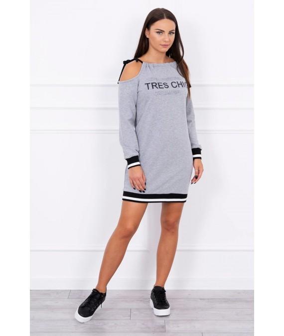 Suknelė Tres Chic (Pilka)