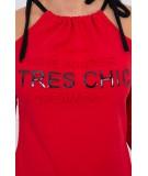 Suknelė Tres Chic (Raudona)