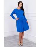 Suknelė su platėjančiu sijonu bottom ir kišene (Mėlyna)