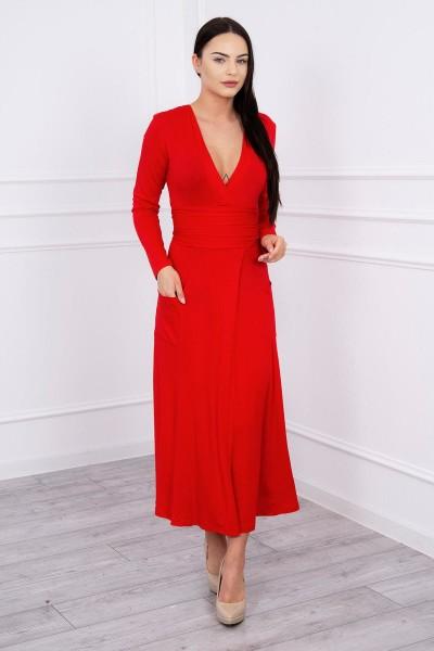 Ilga Suknelė su iškirpte (Raudona)