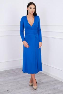 Ilga Suknelė su iškirpte (Mėlyna)