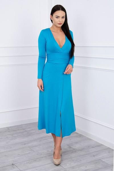 Ilga Suknelė su iškirpte (Turkio spalva)