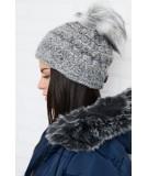 Kepurė K87 (Pilka) (Švelnios spalvos)