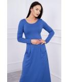 Suknelė su blizgančia kišene (Mėlyna)