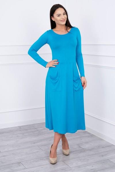 Suknelė su blizgančia kišene (Turkio spalva)