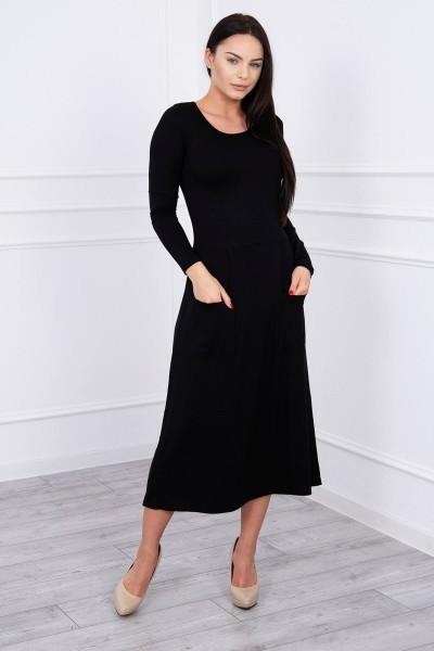 Suknelė su blizgančia kišene (Juoda)