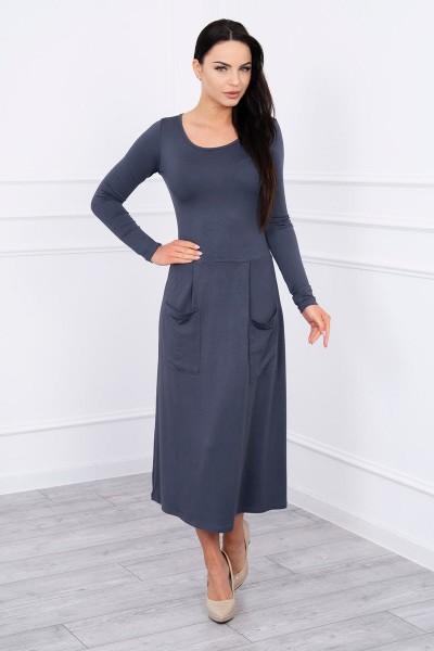 Suknelė su blizgančia kišene (Grafito)