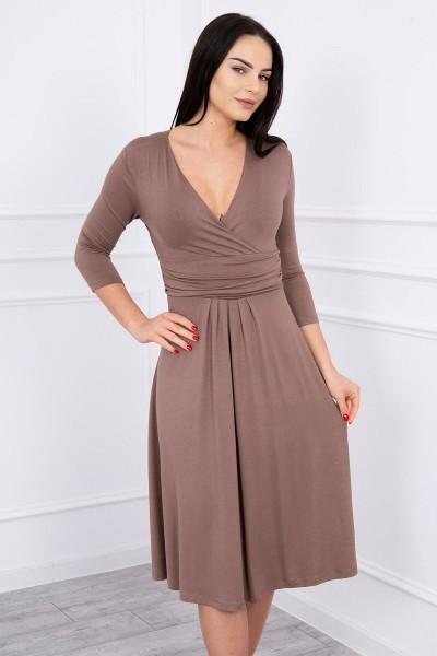 Suknelė su iškirpte (Kapučino)