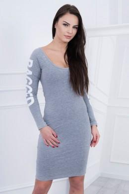 Suknelė su užrašu (Pilka) (Švelnios spalvos)