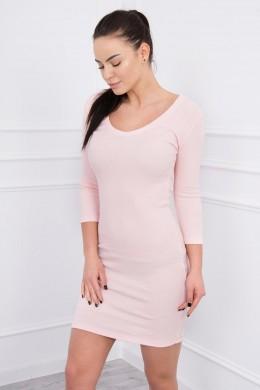 Aptempta suknelė su iškirpte (Šviesiai) (Rožinė)