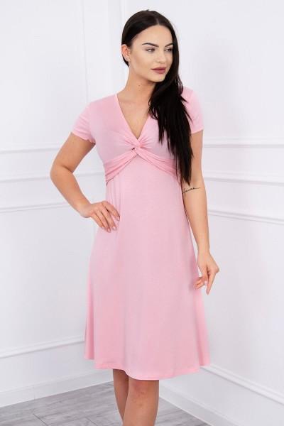 Suknelė su dekoracijomis iš priekio (Šviesiai) (Rožinė)