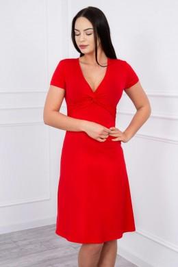Suknelė su dekoracijomis iš priekio (Raudona)