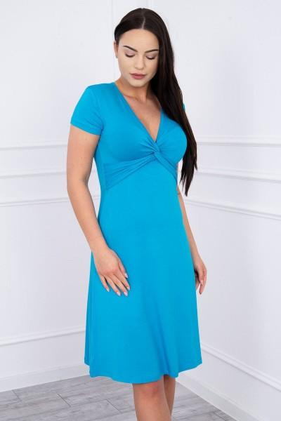 Suknelė su dekoracijomis iš priekio (Turkio spalva)