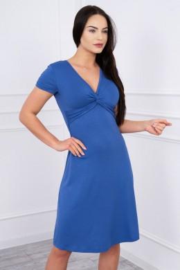 Suknelė su dekoracijomis iš priekio (Mėlyna)