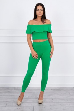 Kostiumėlis su raukšlėmis (Žalia)