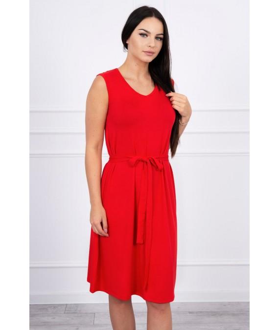 Suknelė su patogiomis petnešomis (Raudona)