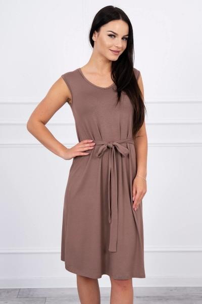 Suknelė su patogiomis petnešomis (Kapučino)