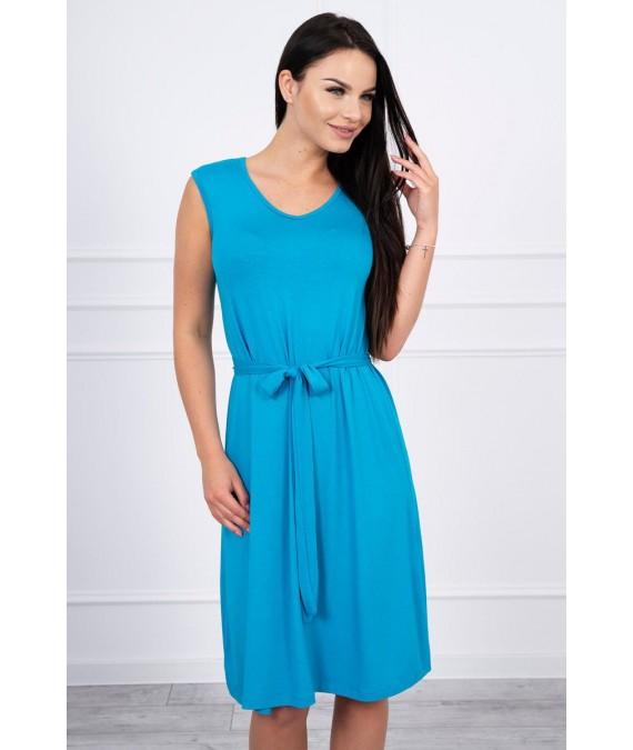 Suknelė su patogiomis petnešomis (Turkio spalva)