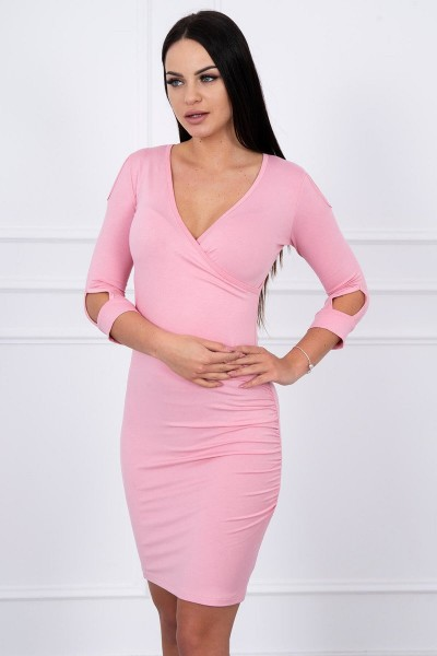 Suknelė su iškirpte (Šviesiai) (Rožinė)