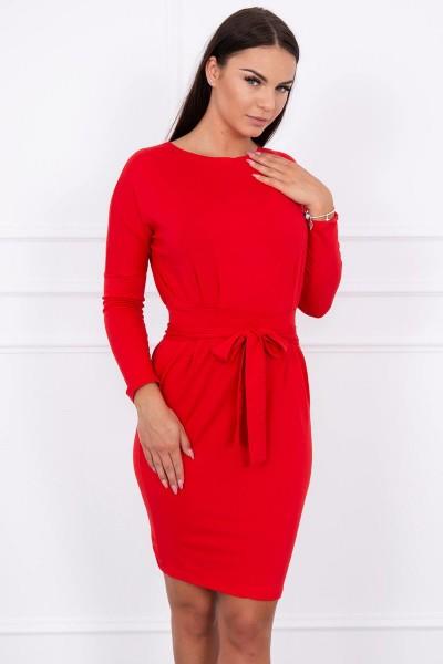 Suknelė su surišamu juosmeniu (Raudona)