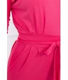 Suknelė su surišamu juosmeniu (Fuksijos)