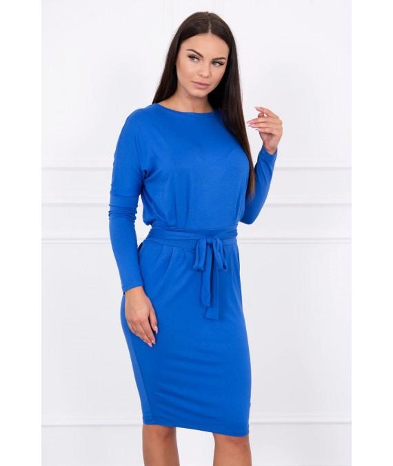 Suknelė su surišamu juosmeniu (Mėlyna)