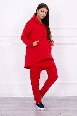 Kostiumėlis su Baggy kelnėmis (Raudona)