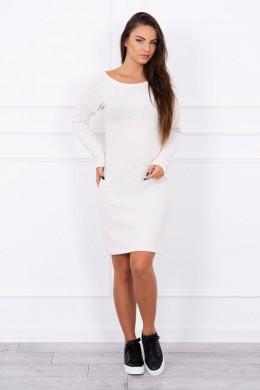 Aptempta suknelė (Šilko spalva)