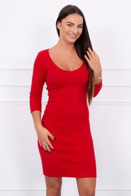Aptempta suknelė su iškirpte (Raudona)