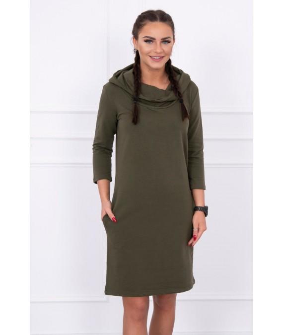 Suknelė su gobtuvu ir kišenėmis (Khaki)