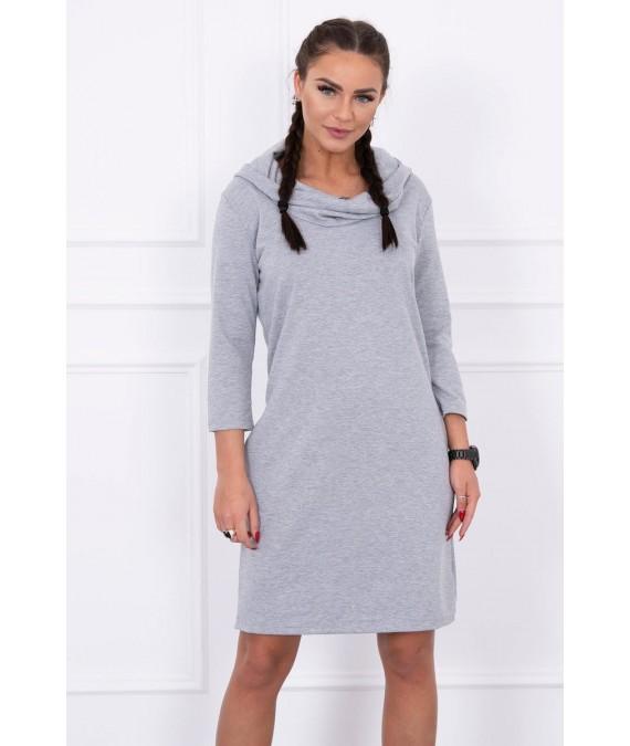 Suknelė su gobtuvu ir kišenėmis (Pilka)