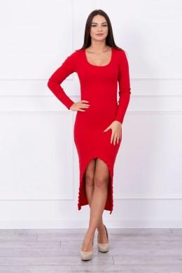 Ilga suknelė su iškirpte priekyje (Raudona)
