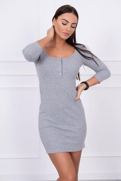 Suknelė su iškirpte (Pilka)