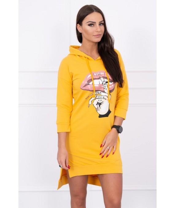Suknelė su spalvinga aplikacija (Garstyčių)