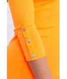 Suknelė su sagutėm ant rankų (Oranžinė) (Neoninė)
