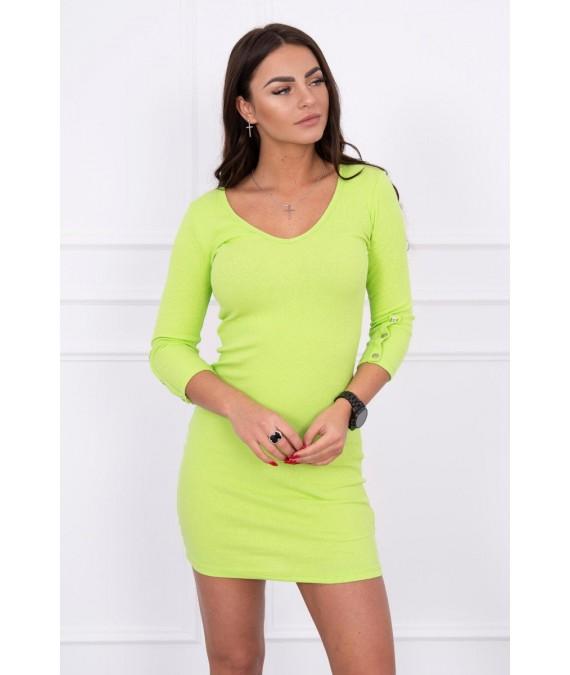 Suknelė su sagutėm ant rankų (Žalia)