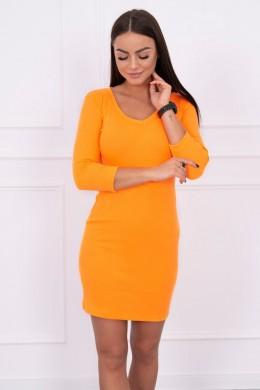 Aptempta suknelė su iškirpte (Oranžinė) (Neoninė)