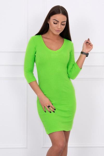 Aptempta suknelė su iškirpte (Žalia) (Neoninė)