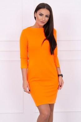 Klasikinė suknelė (Oranžinė) (Neoninė)