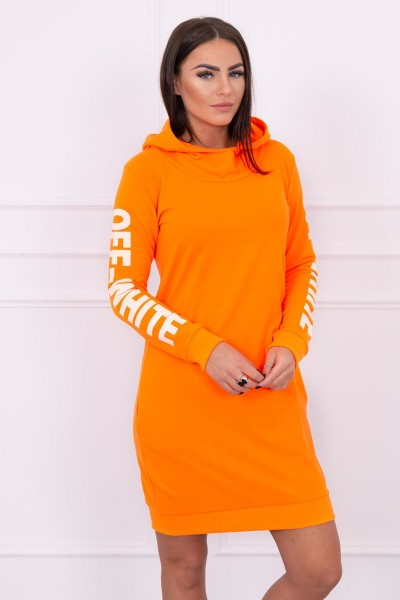 Suknelė su užrašu (Oranžinė) (Neoninė)