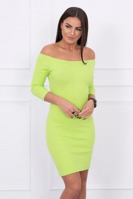 Aptempta suknelė - atvirais pečiais (Kivio spalva)