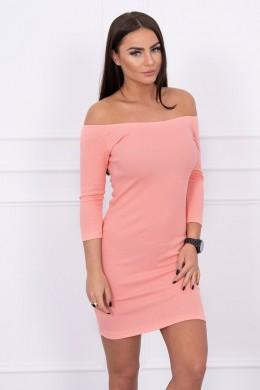 Aptempta suknelė - atvirais pečiais (Abrikoso spalva)