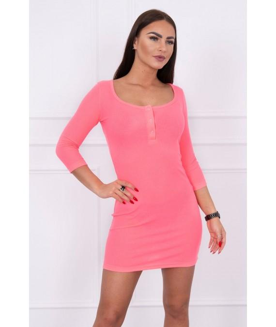 Suknelė su iškirpte (Rožinė) (Neoninė)