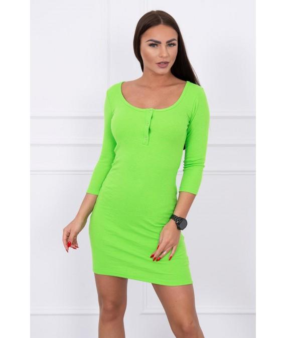 Suknelė su iškirpte (Žalia) (Neoninė)