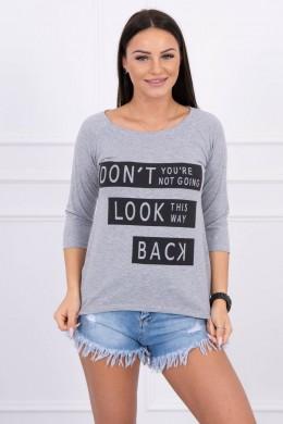 Palaidinė - Don't Look Back, (Pilka) (Švelnios spalvos)