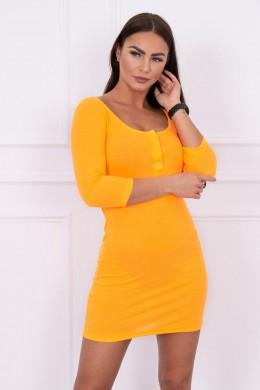 Suknelė su iškirpte (Oranžinė) (Neoninė)