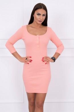 Suknelė su iškirpte (Abrikoso spalva)