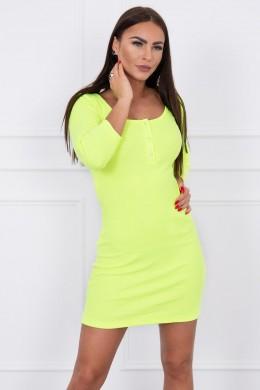Suknelė su iškirpte (Geltona) (Neoninė)